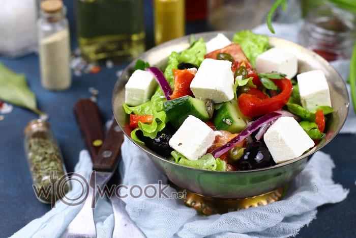 вкусный греческий салат, рецепт с фото