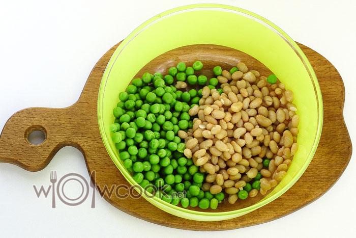горошек и фасоль