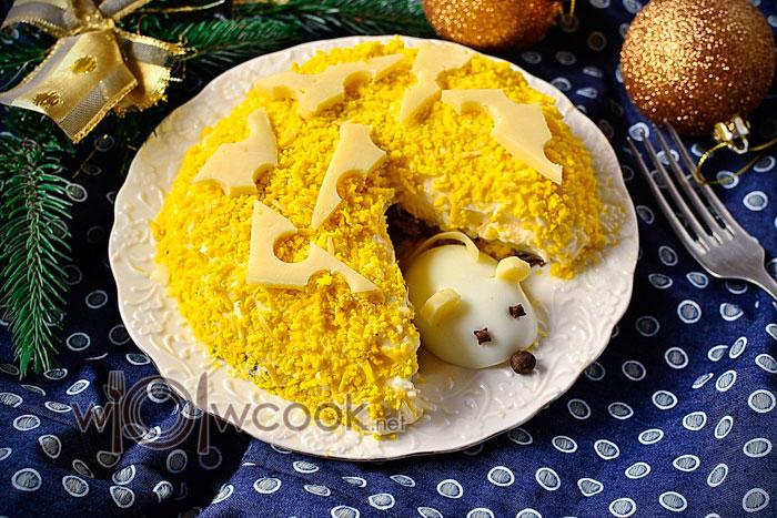 новогодний салат с крысой