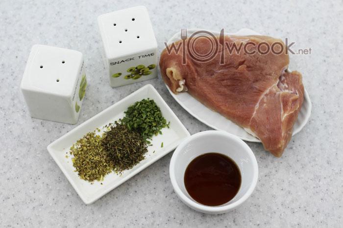 ингредиенты для стейка на сковороде