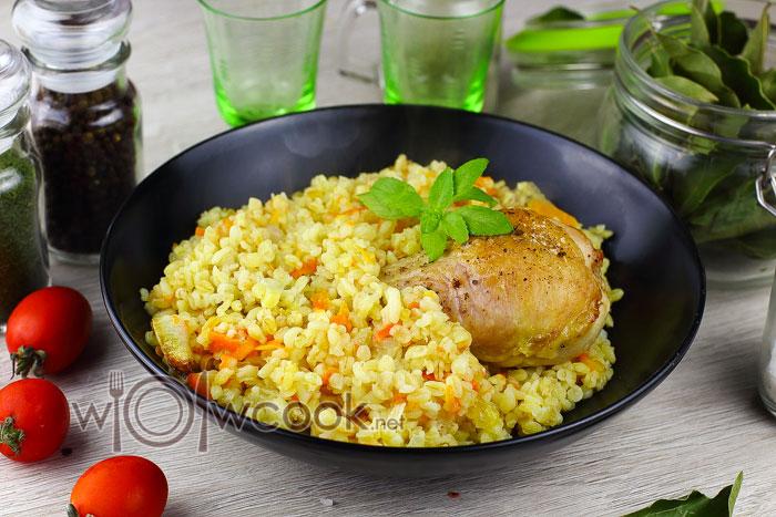 булгур с курицей в духовке рецепт с фото пошагово