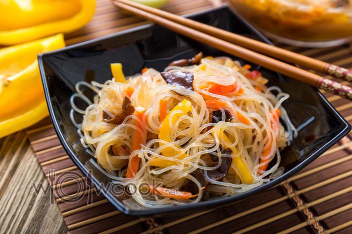 фунчоза с овощами рецепт с фото