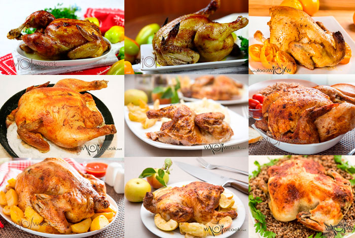 как запечь целиком курицу в духовке