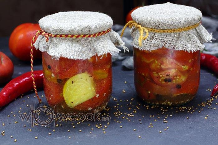 помидоры с горчицей зернами