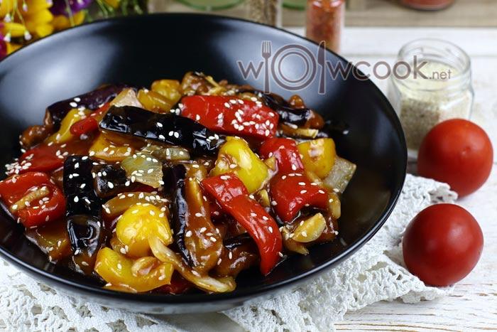 баклажаны в кисло-сладком соусе по-китайски