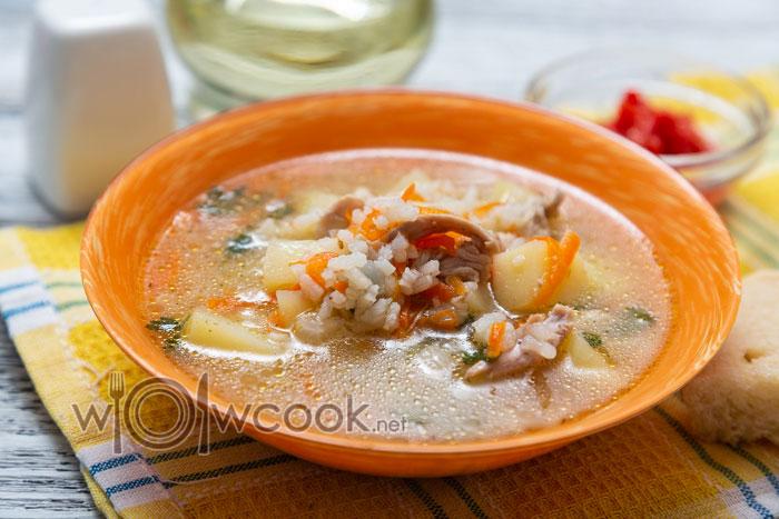 суп куриный с рисом и картошкой рецепт