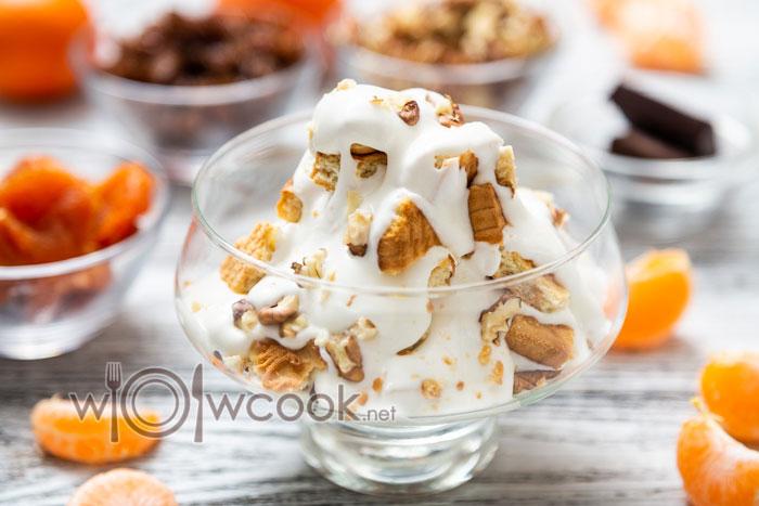 десерт в стакане слоями рецепт с фото с печеньем
