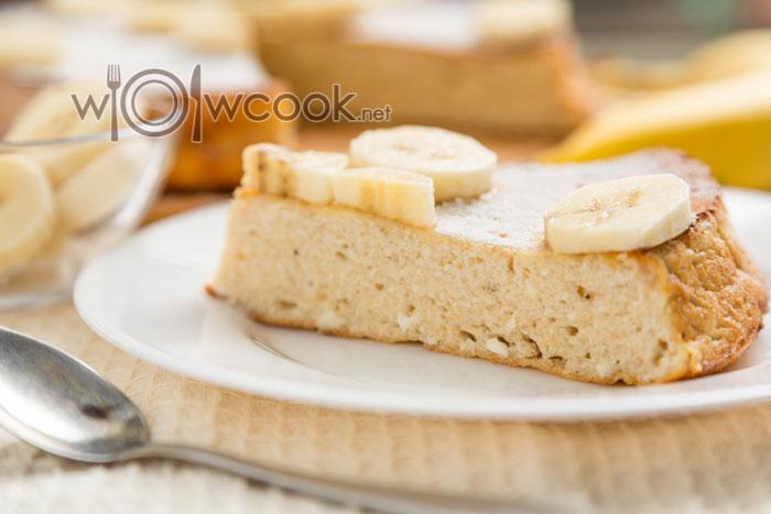 Творожно-банановая запеканка в духовке
