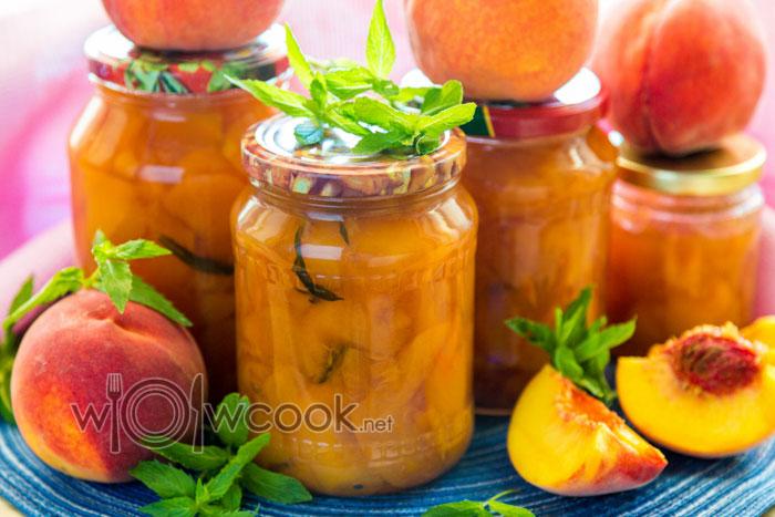 персиковое варенье с мятой