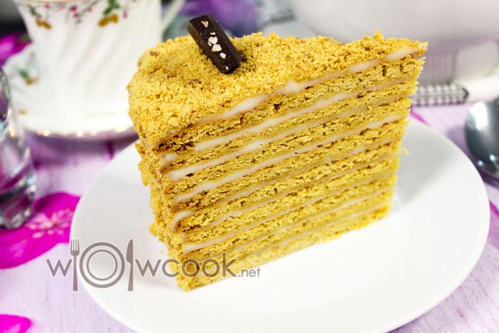 торт медовик классический со сметанным кремом рецепт