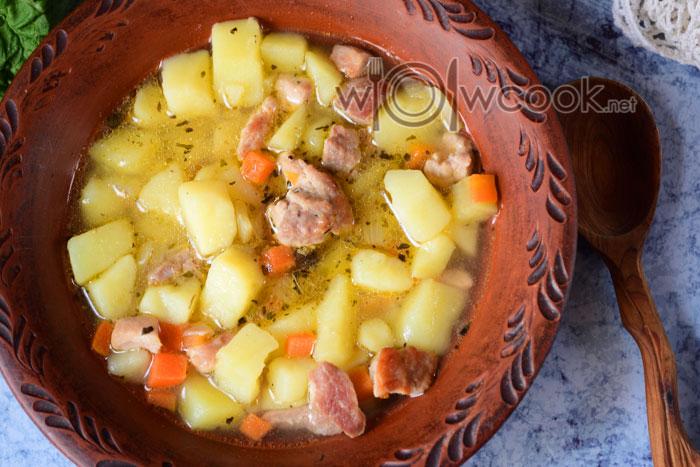 картофель тушеный с мясом рецепт