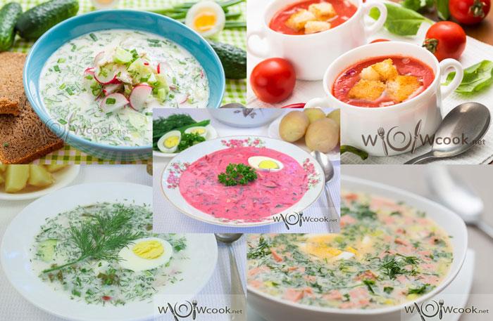 летние супы холодные рецепты