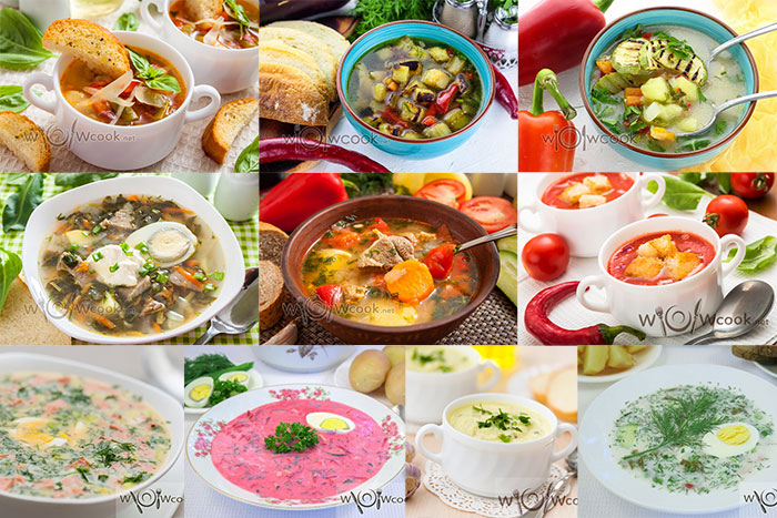 Летние супы, рецепты с фото простые