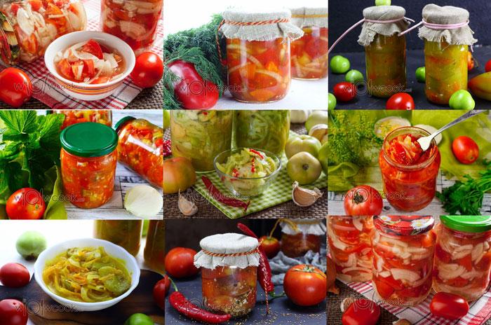салаты из помидор на зиму, лучшие рецепты