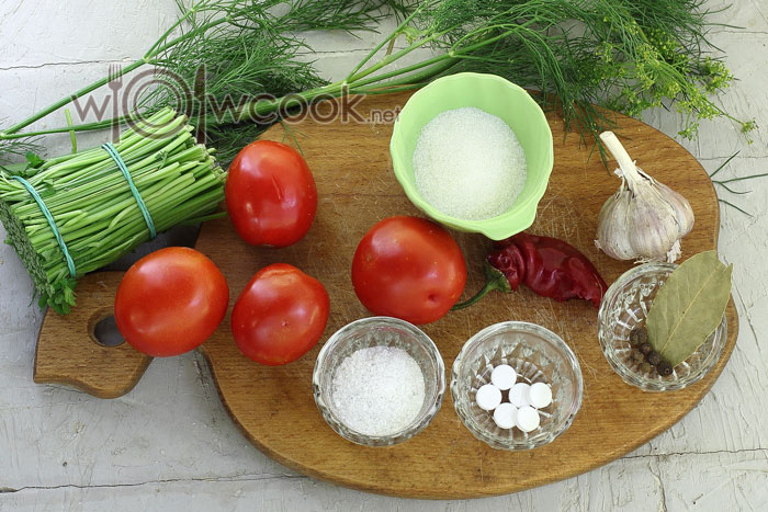 Ингредиенты для помидор