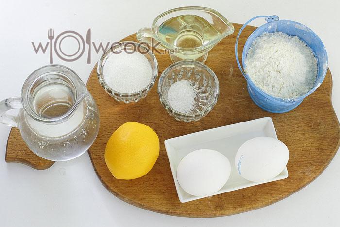 ингредиенты для блинчиков