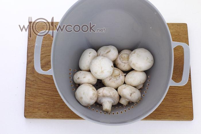 Промываем грибы