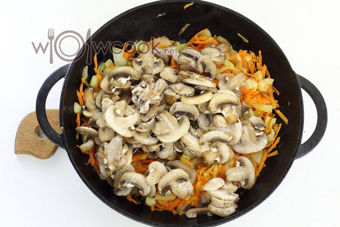 нарезанные грибы