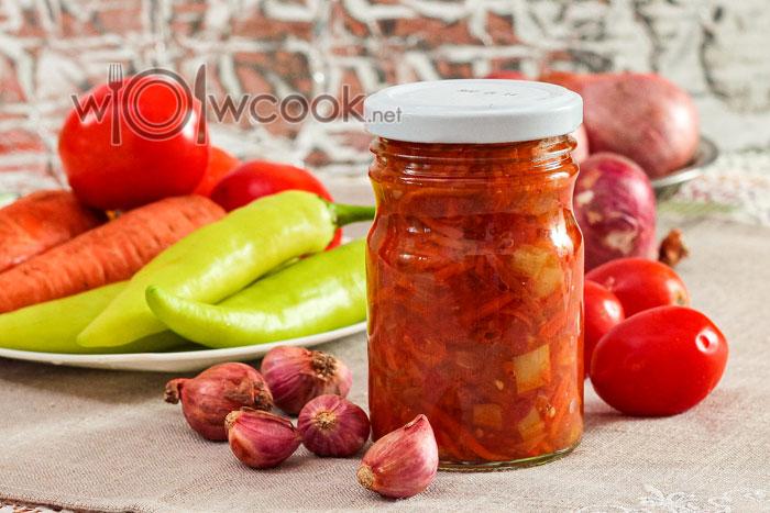 Суповая заправка на зиму, рецепт с помидорами