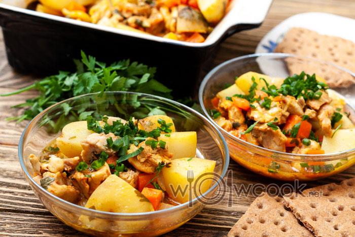 жаркое с курицей и картофелем рецепт