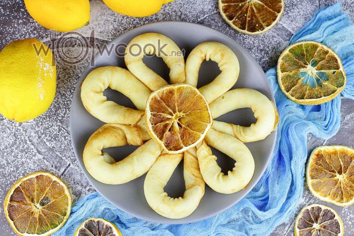 лимонные блины с цедрой