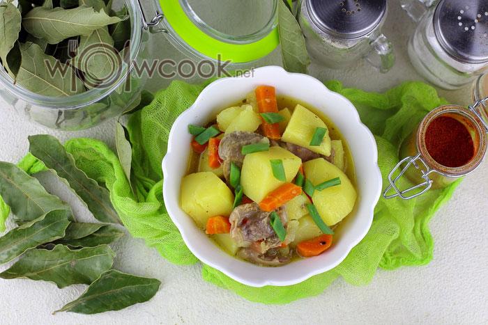 Очень вкусная тушеная картошка рецепт с фото