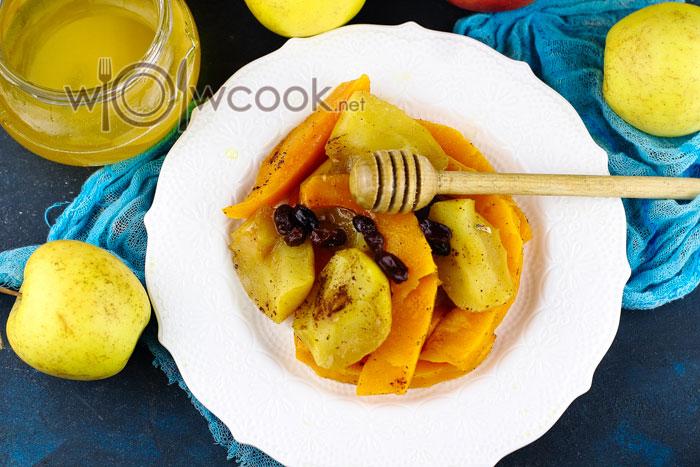 Тыква с яблоками в духовке рецепт с фото
