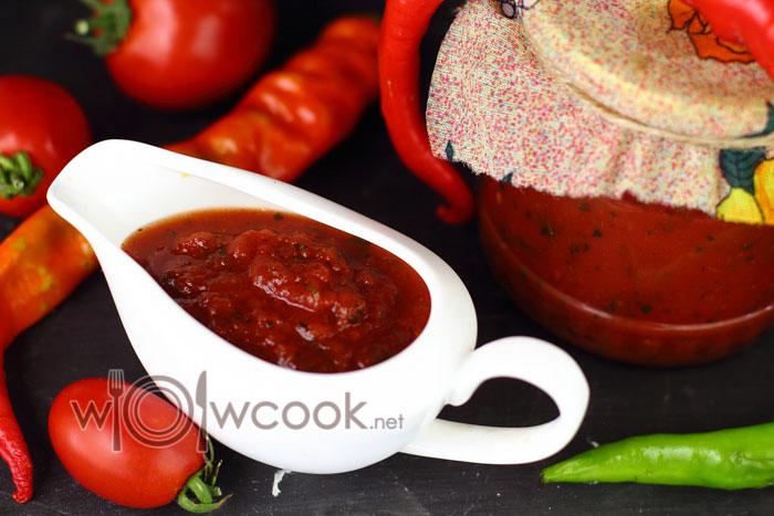 Соус томатный домашний, рецепт на зиму