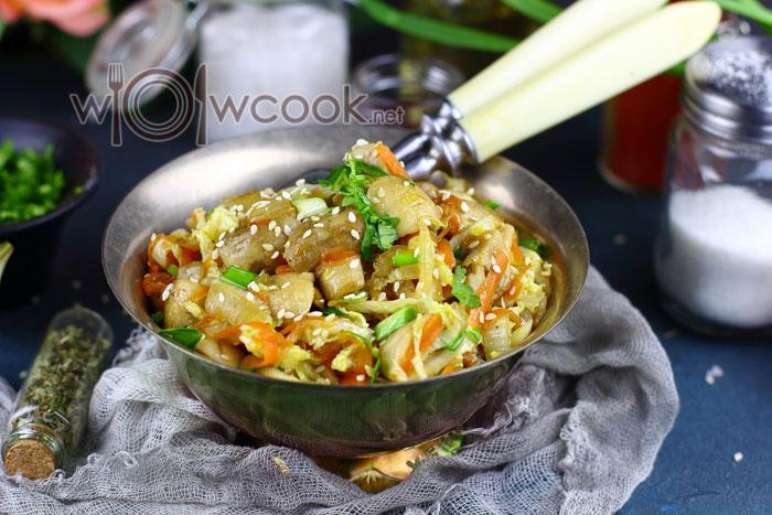 Пошаговый рецепт тушеной пекинской капусты