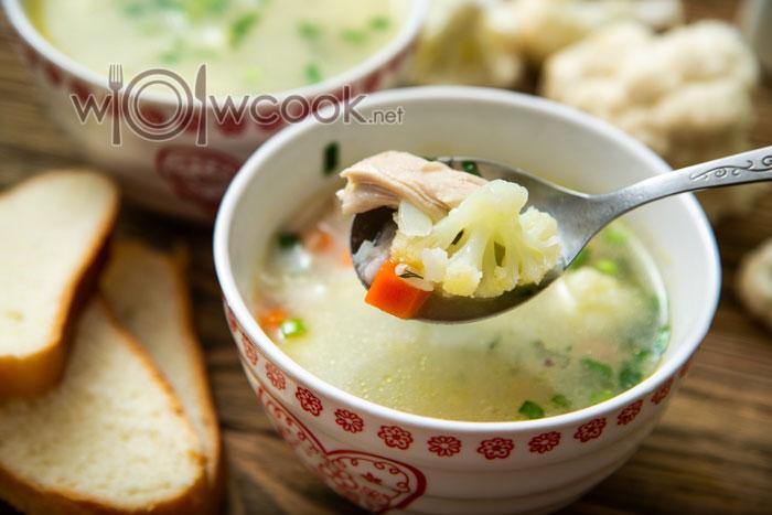 Суп из цветной капусты, очень вкусный рецепт