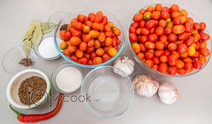 ингредиенты для помидоров