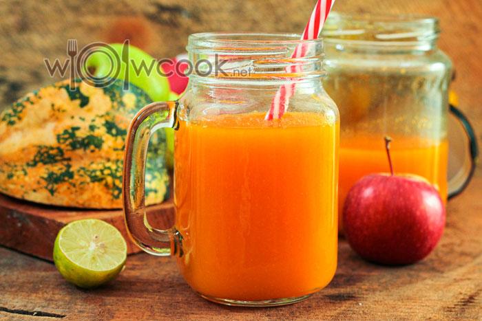 Сок из тыквы с яблоками на зиму