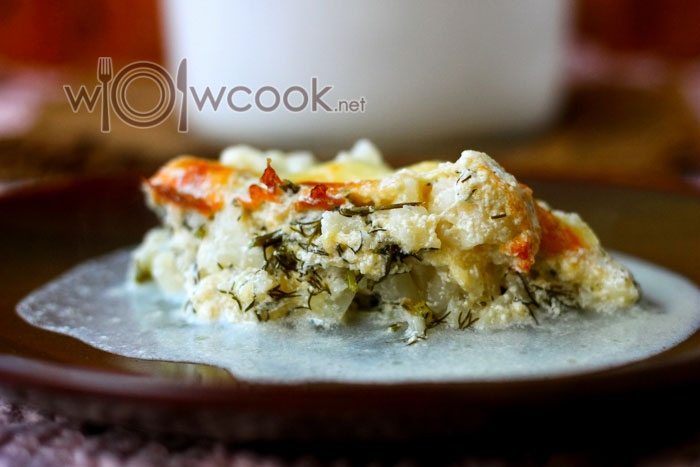 рецепт цветной капусты в духовке со сметаной