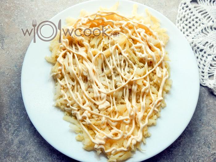 картофель и майонез