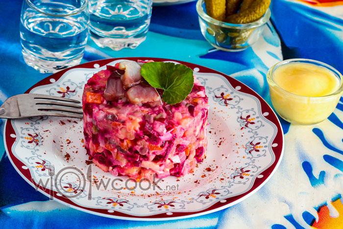 салат рассолье с селедкой, рецепт с фото