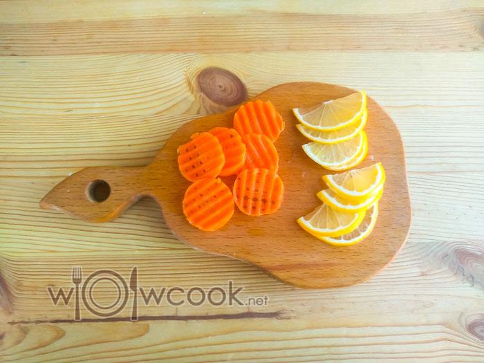 морковь и лимон