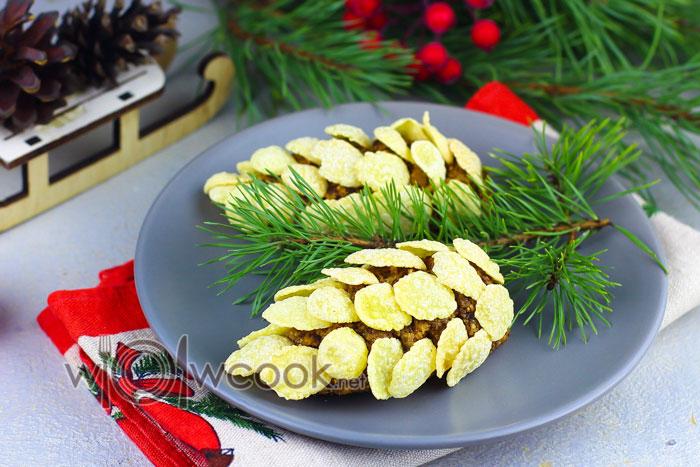 десерт новогодние шишки