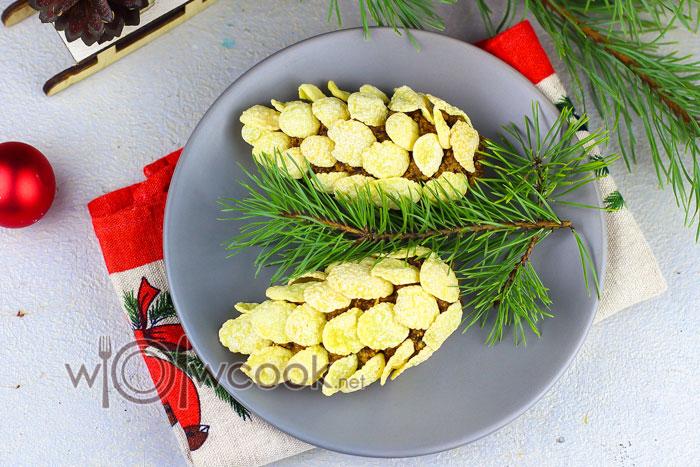 новогодний десерт шишки