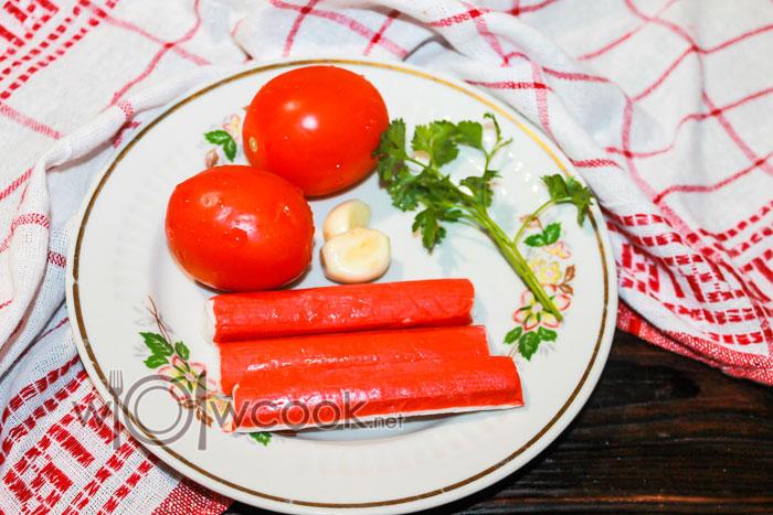 помидоры и палочки