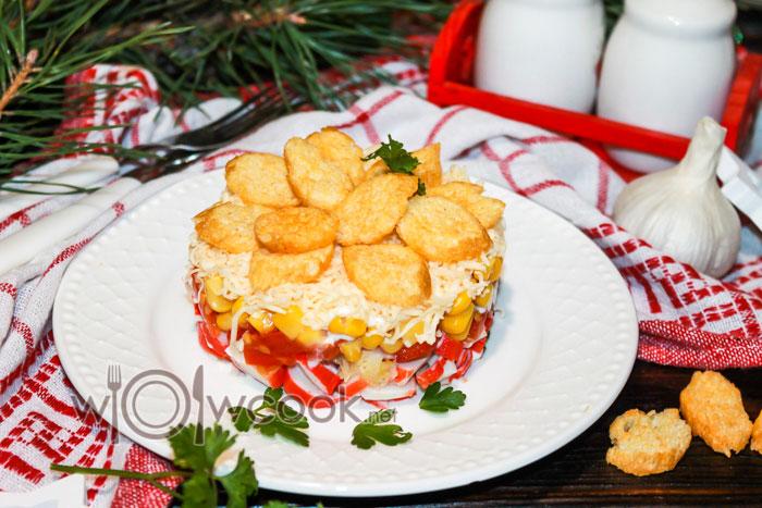 салат коррида с крабовыми палочками, рецепт с фото