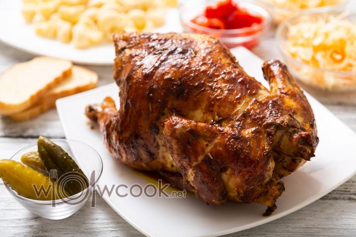 Курица гриль, рецепт в духовке на вертеле