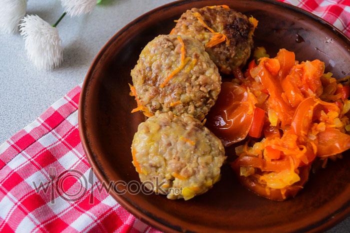 гречаники рецепт с фаршем в томатном соусе