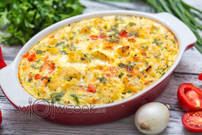 овощная запеканка с цветной капустой в духовке