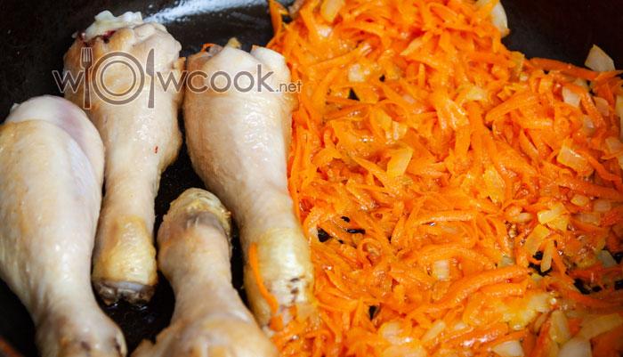 голени с луком и морковью