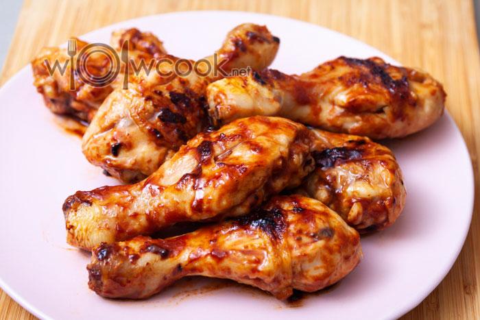 Куриные ножки гриль в соевом соусе на сковороде