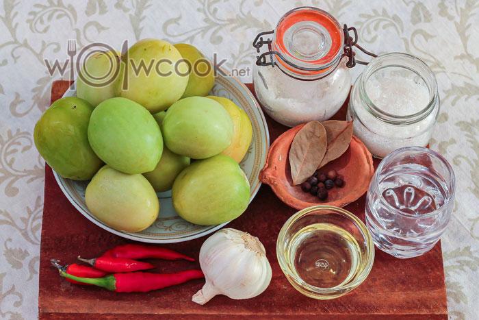 ингредиенты для острого салата
